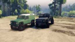 Land Rover Defender 90 v1.0 – Spin Tires 2014