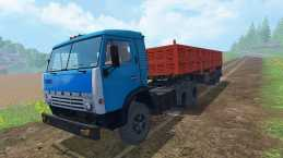 KAMAZ 5410 TRUCK & TRAILER V1.0