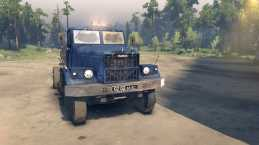 KrAZ-258 4×2 For Spin Tires