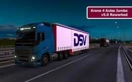 KRONE 4 AXLES JUMBO V5.0 REWORKED ETS2