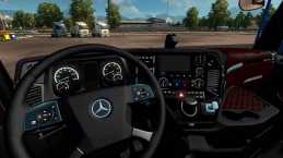 MERCEDES BENZ ACTROS MP4 RED & BLACK INTERIOR
