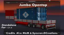 JUMBO OPENTOP TRAILER FOR ETS2