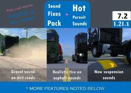 SOUND FIXES PACK + HOT PURSUIT SOUNDS V7.2 ETS2
