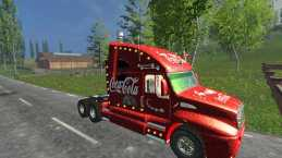COCA COLA CHRISTMAS TRUCK V1.0 FOR FS15