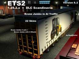 CROWN 4AXLES JUMBO CURTAINSIDER V8.3