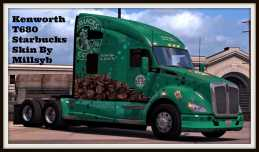 KENWORTH T680 STARBUCKS SKIN