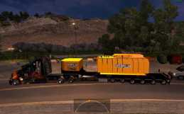 TRAILER WITH CATERPILLAR HEAVY TRANSFORMER FOR ATS 1.4.X – 1.4.2.2S